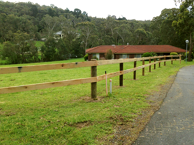 Post & Rail Fencing, Melbourne Christian Fellowship, Croydon North